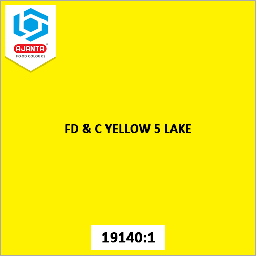 FD & C Yellow 5 Lake Cosmetic Colours