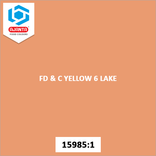 FD & C Yellow 6 Lake Cosmetic Colours