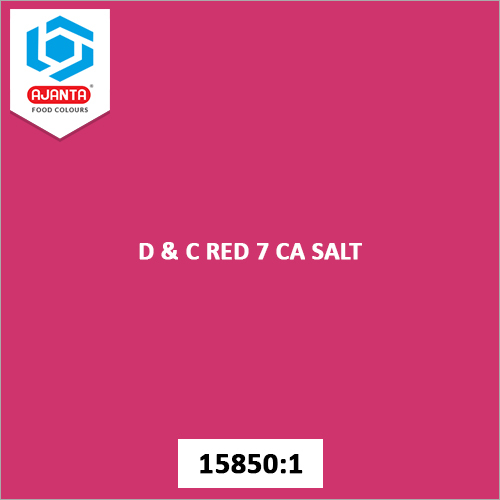 D & C Red 7 CA Salt Cosmetic Colours