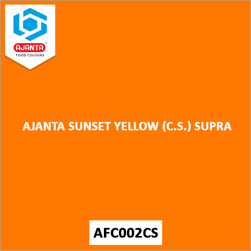 Ajanta Sunset Yellow (C.S.) Supra Pharmaceutical Colours
