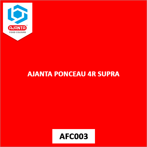 Ajanta Ponceau 4R Supra Pharmaceutical Colours