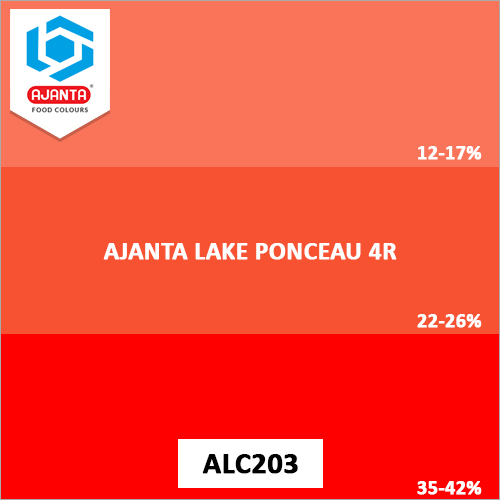 Ajanta Lake Ponceau 4R Pharmaceutical Colours