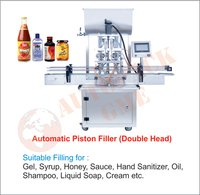 Automatic Oil Filling Machine (Double Head) / Automatic Liquid, Paste, Cream, Shampoo, Honey Filling Machine