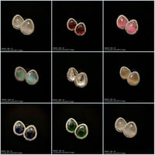 Beautiful Colored Stone Earring