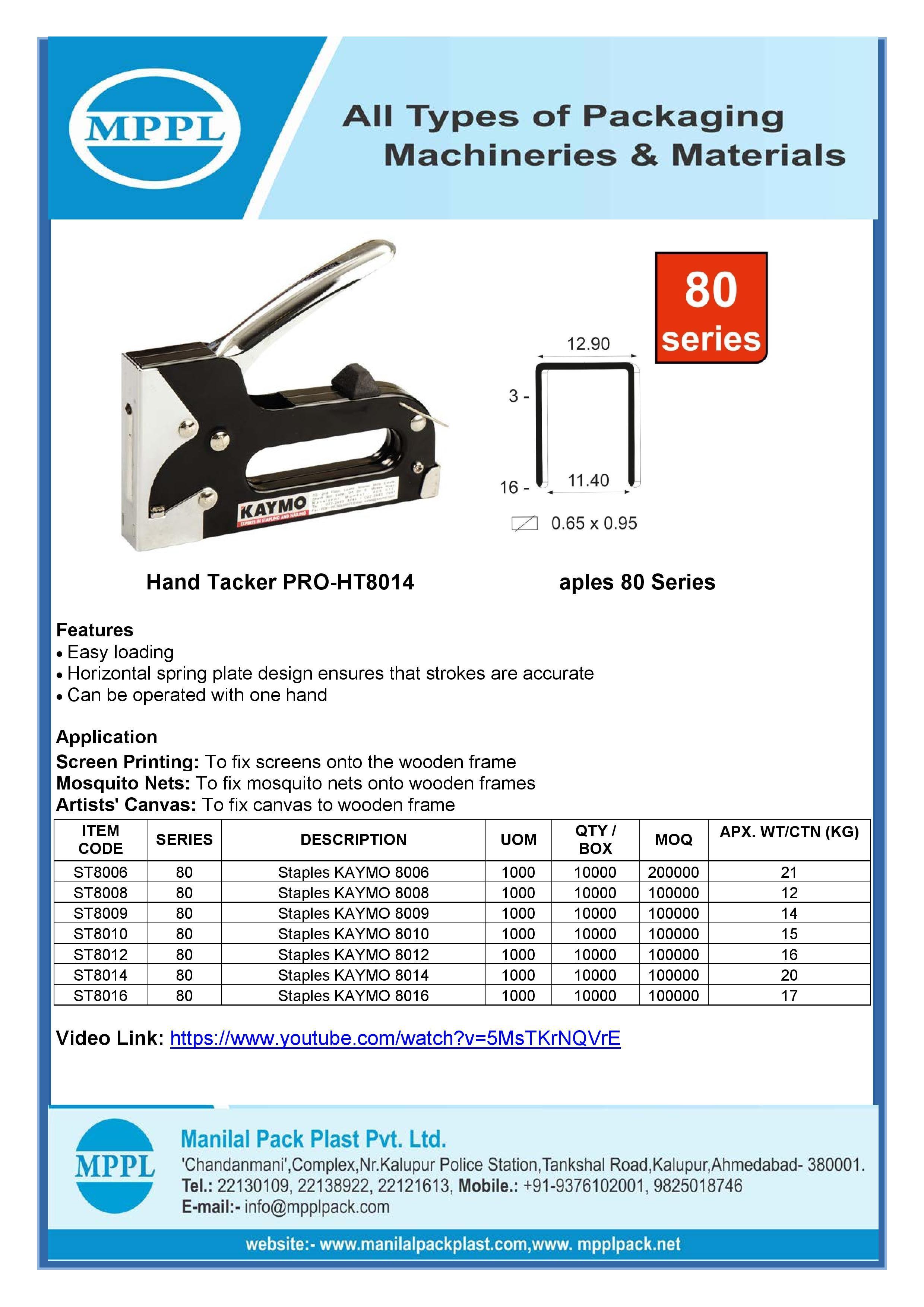 Hand Tacker PRO-HT8014