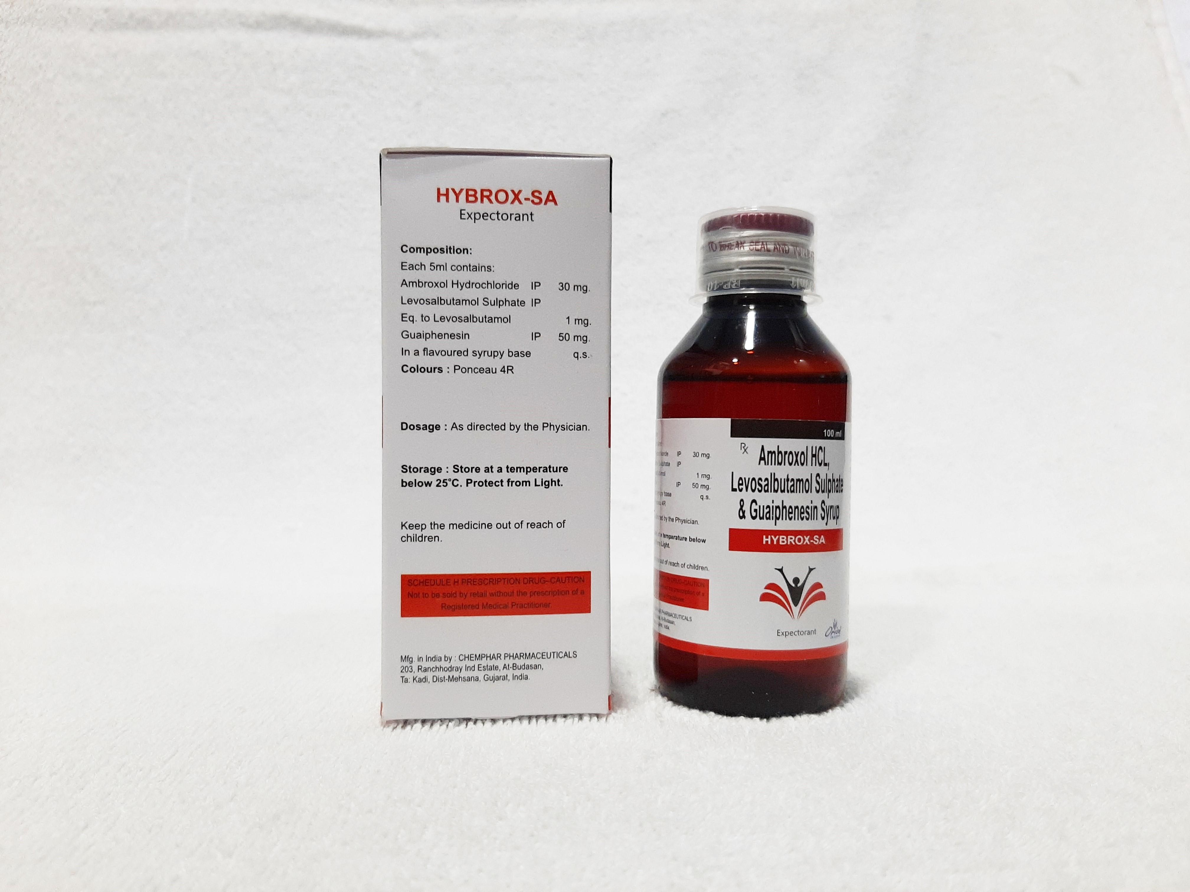 Ambroxol Hcl, Levosalbutamol & Guaiphenesin Syrup