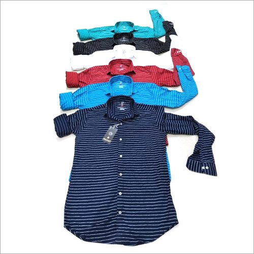 Mens Striped Full Sleeve Shirt