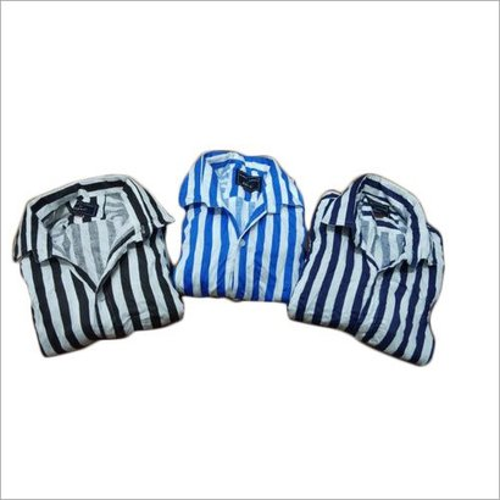 Washable Men Casual Wear Striped Shirt