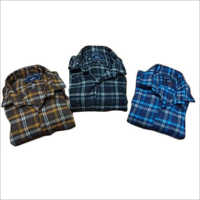 Mens Collar Neck Checked Shirts