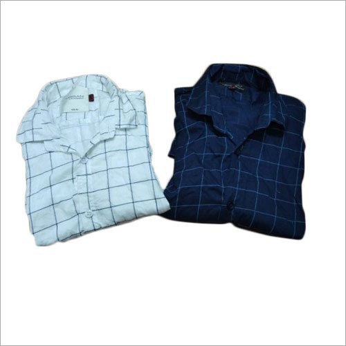 Mens Cotton Checked Shirts