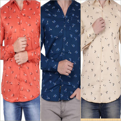 Mens Printed Cotton Shirts