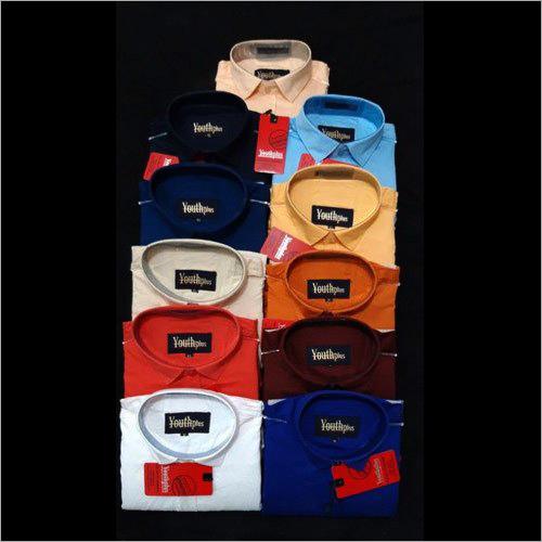 Mens Plain Cotton Casual Shirts
