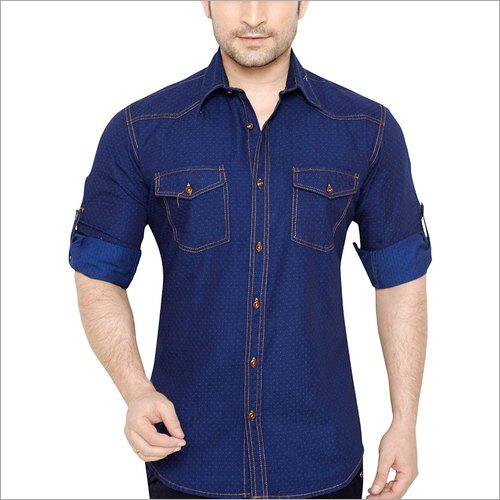 Mens Denim Plain Shirts