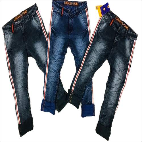 Mens Denim Side Stripe Jeans
