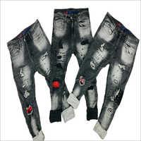 Mens Damage Denim Jeans