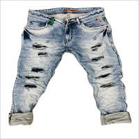 Mens Damage Trending Jeans