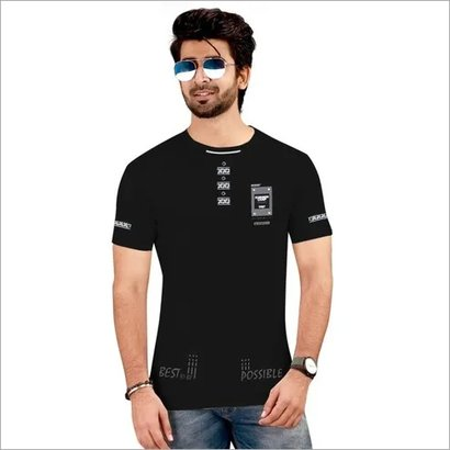 Round Neck Men'S T-Shirt Age Group: Teen Age
