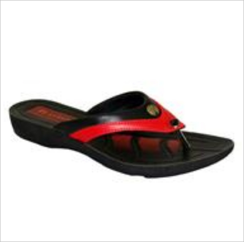 Black And Red Women Slipper