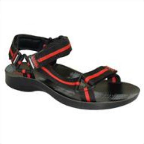 Black And Red Men Sandal