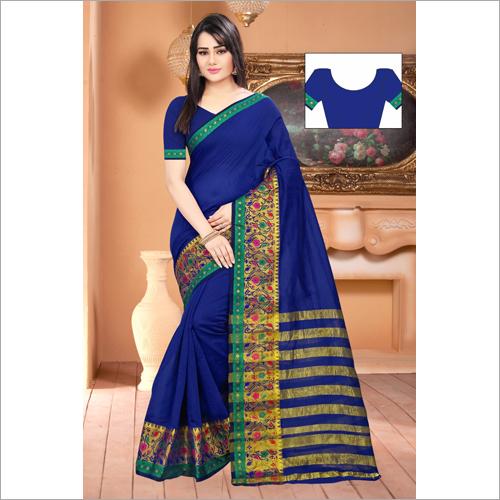 Designer Chit Pallu Saree