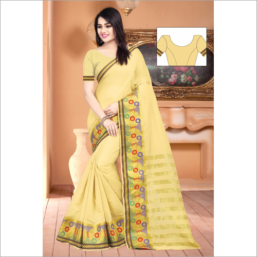 Fancy Chit Pallu Saree