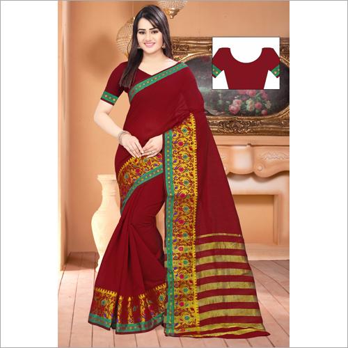 Stylish Chit Pallu Saree