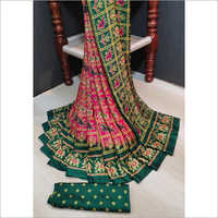 Casual Printed Bandhej Saree