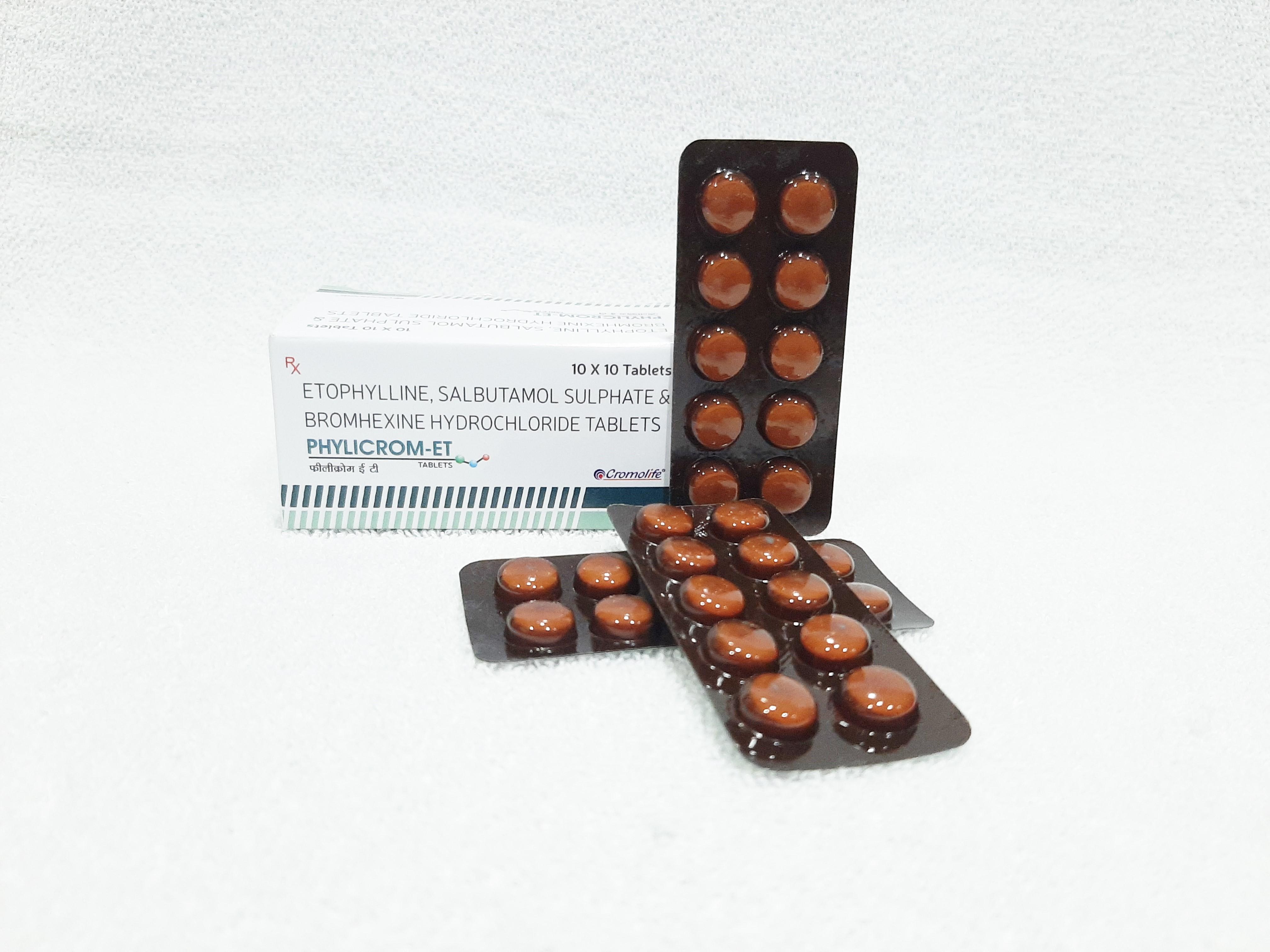 Etofylline, Terbutaline & Bromhexine Hydrochloride Tablet