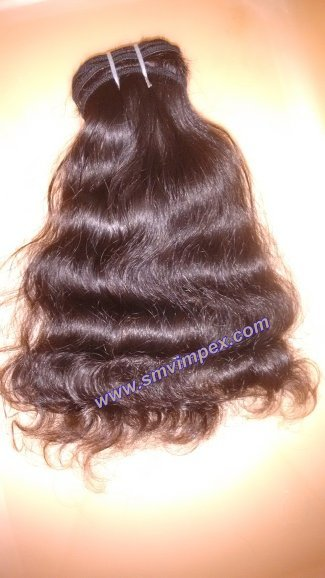 Indian hair wefting