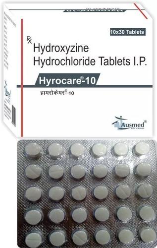 Hydroxyzine Hydrochloride IP 10 mg./HYROCARE 10