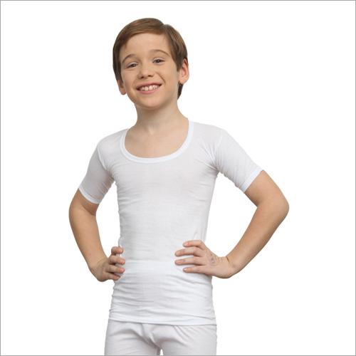 Lux Premium Boys White Vest