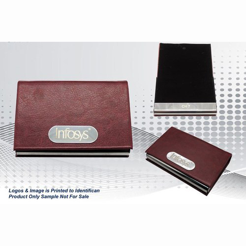 Leather Steel Card Holder