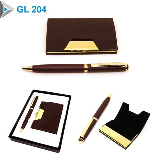 Executive Green Leather Gift Set