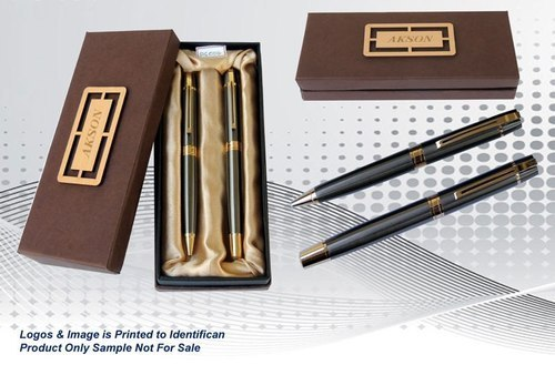 Engraved Metal Pen Set