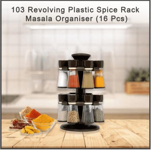 Revolving Plastic Spice Rack Masala Organiser
