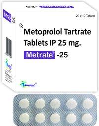 Metoprolol Tartrate Tablets IP 50 MG / Metrate-50