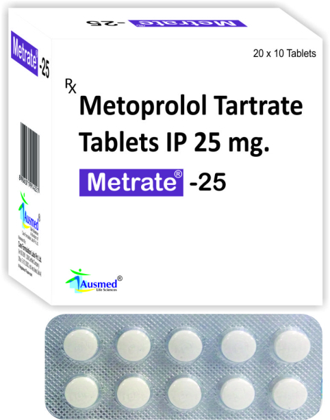 Metoprolol Tartrate Tablets IP 50 MG / Metrate-50