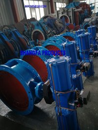 Dust gas butterfly valves