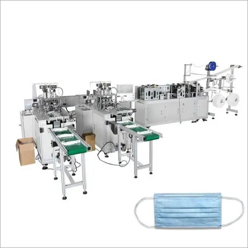 auto3 ply nonwoven fabric disposable medical facemask facial surgical face mask making machine