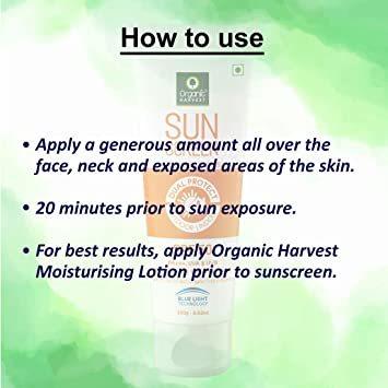 Organic Harvest Sunscreen SPF 50