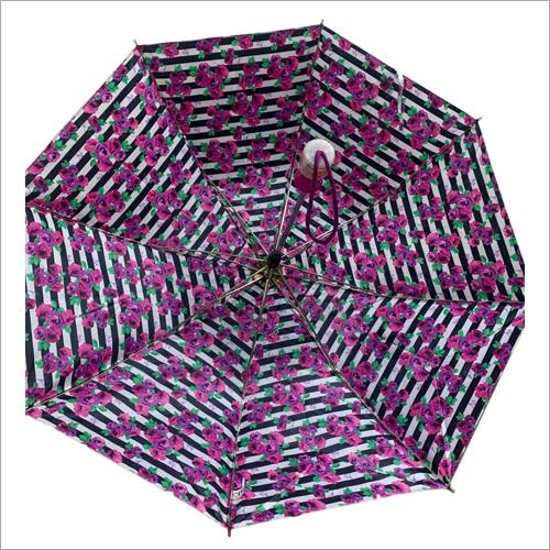 Satin Printed Folding Jumbo Umbrella