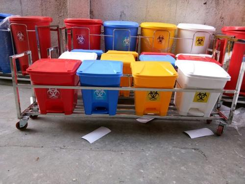 Biomedical Bin with S S Trolley