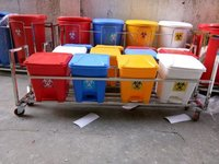 Bio Medical Bin with S S Trolly