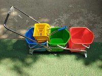 Three Bucket Wringer Trolly