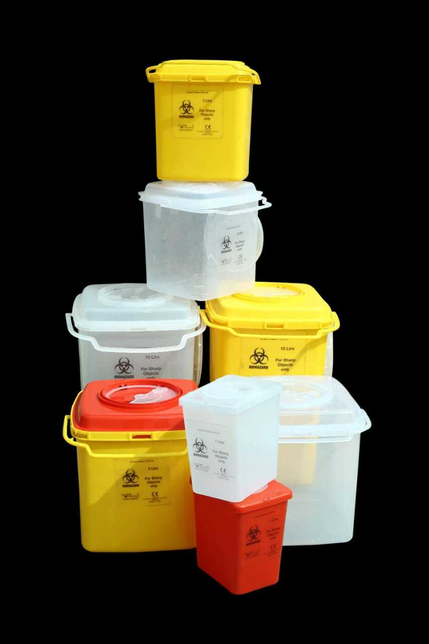 Sharp Container For Bio Medical With Niddle Cutter