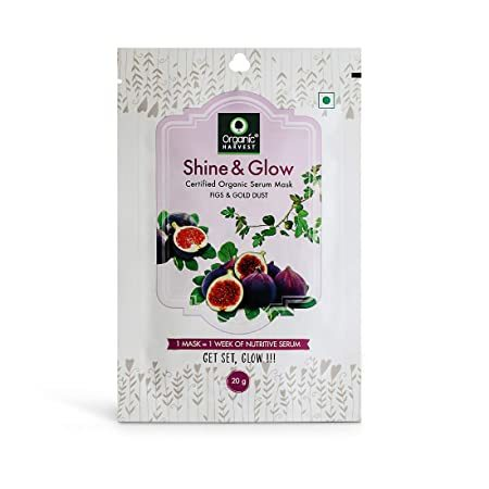 Organic Harvest Shine and Glow Face Sheet Mask 20 g