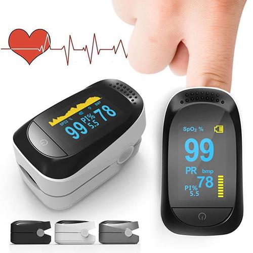 Finger Pulse Oximeter 4 Parameter