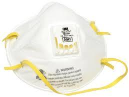 3m N95 Respirator Mask 8210v 9010 Kn95 Particulate Respirator
