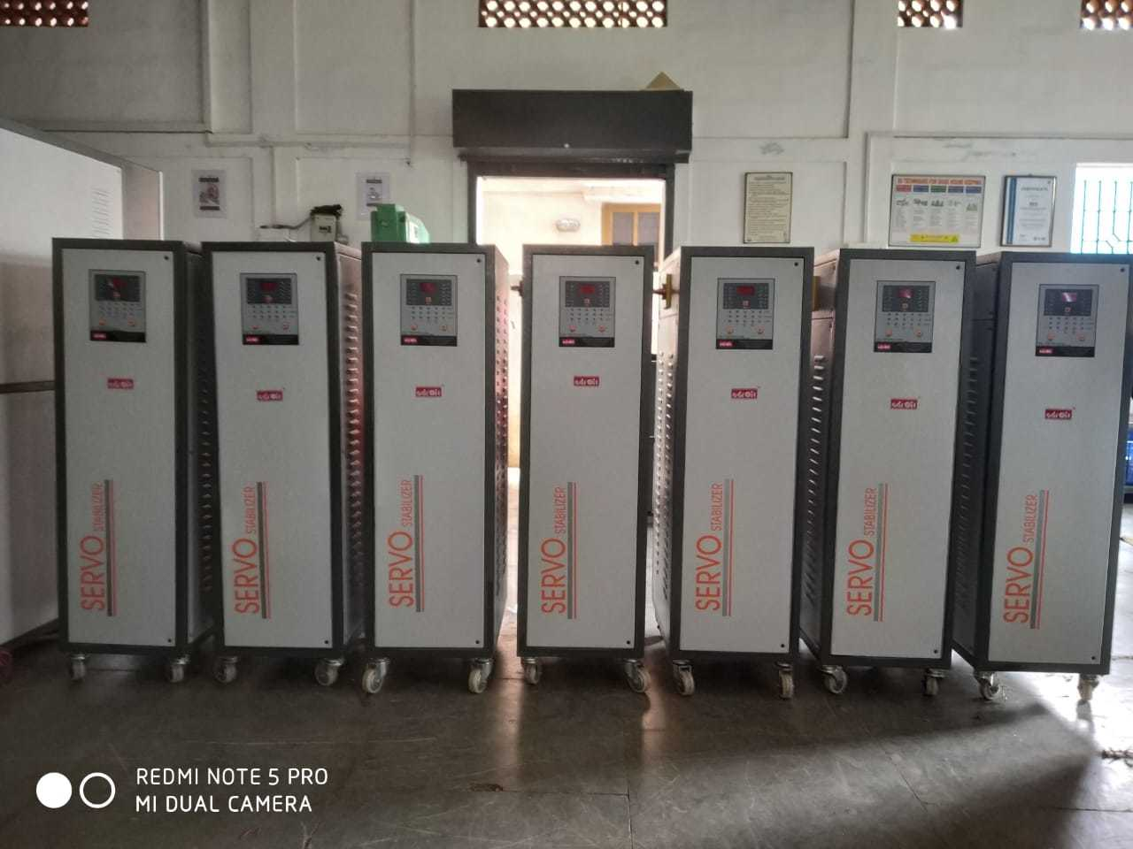 25 KVA Three Phase Air Cooled Normal Range Servo Stabilizer