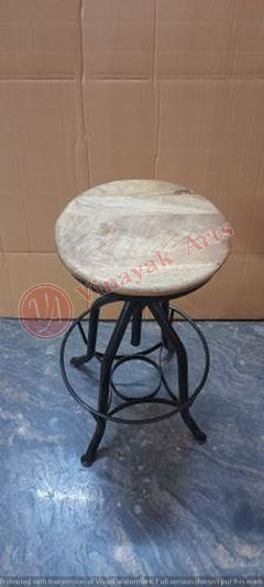 Iron and Wooden Stool